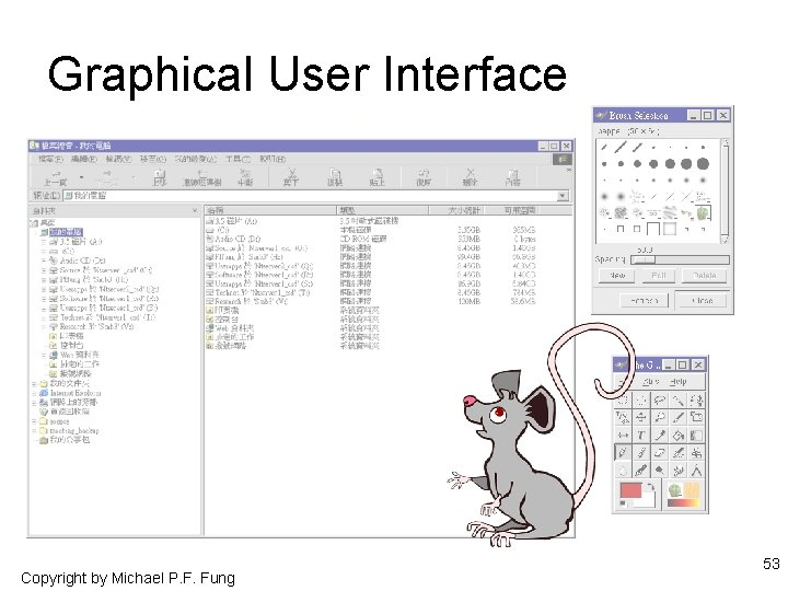 Graphical User Interface Copyright by Michael P. F. Fung 53
