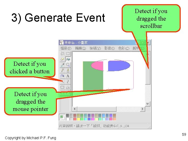 3) Generate Event Detect if you dragged the scrollbar Detect if you clicked a