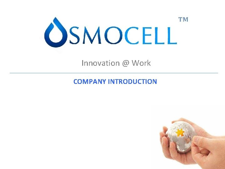 Innovation @ Work COMPANY INTRODUCTION