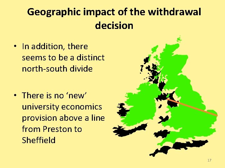 Geographic impact of the withdrawal decision • In addition, there seems to be a