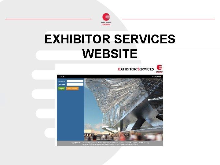 EXHIBITOR SERVICES WEBSITE