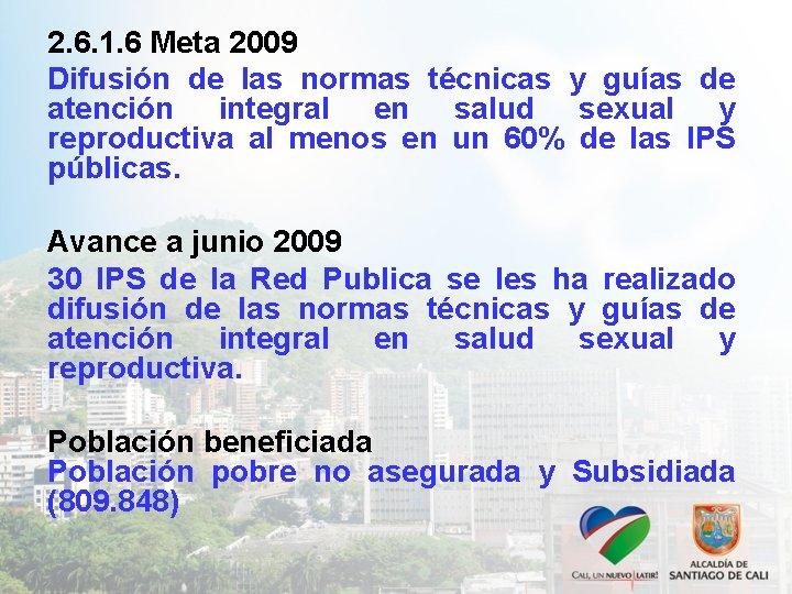2. 6. 1. 6 Meta 2009 Difusión de las normas técnicas y guías de