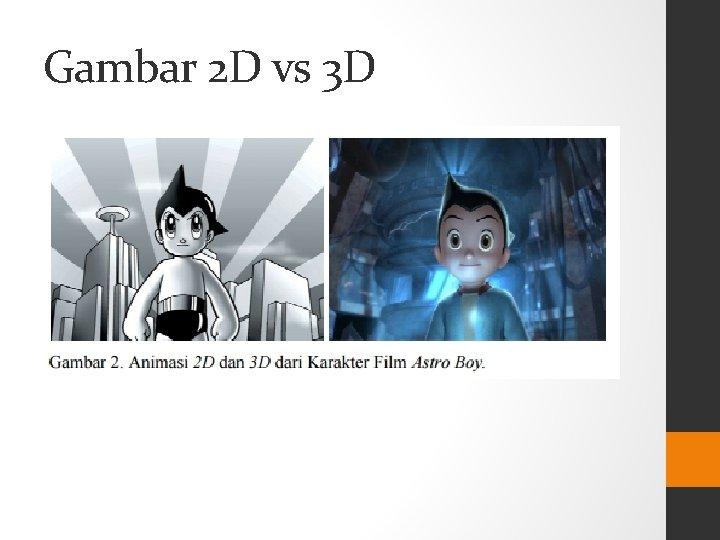 Gambar 2 D vs 3 D
