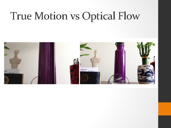 True Motion vs Optical Flow