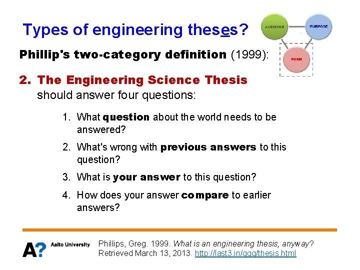 engineering thesis tense