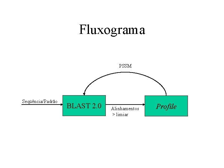 Fluxograma PSSM Seqüência/Padrão BLAST 2. 0 Alinhamentos > limiar Profile