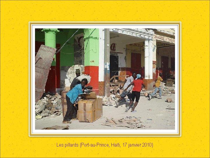 Les pillards (Port-au-Prince, Haïti, 17 janvier 2010)