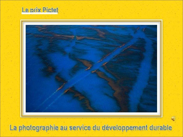 Le prix Pictet La photographie au service du développement durable