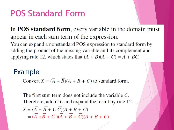 POS Standard Form Example