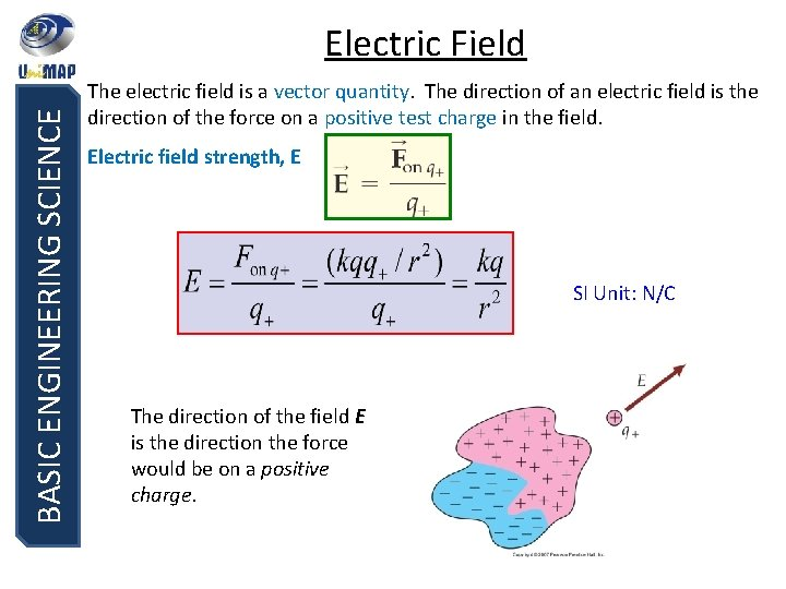 BASIC ENGINEERING SCIENCE Electric Field The electric field is a vector quantity. The direction