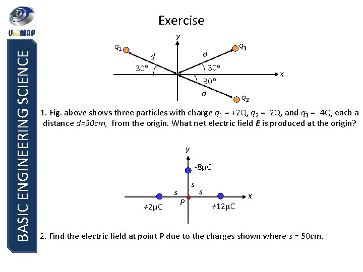 BASIC ENGINEERING SCIENCE Exercise y q 1 q 3 d d 30 o x