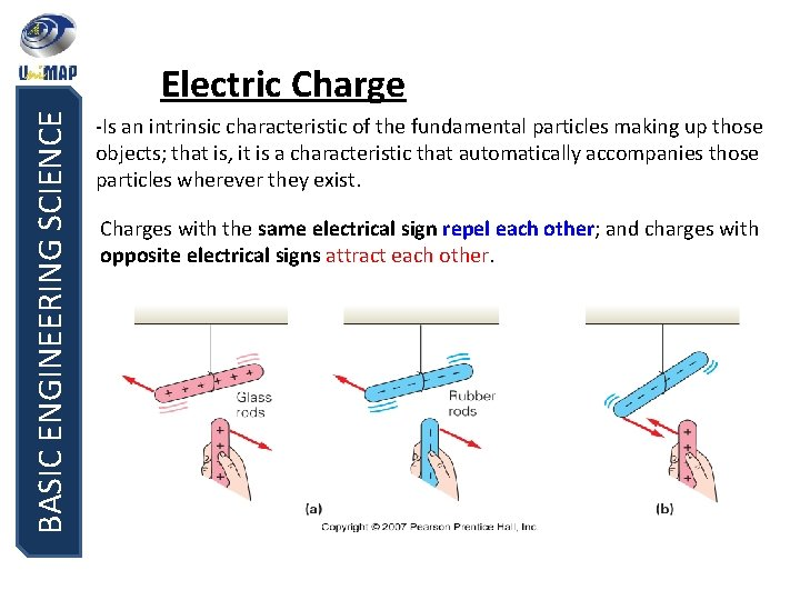 BASIC ENGINEERING SCIENCE Electric Charge -Is an intrinsic characteristic of the fundamental particles making