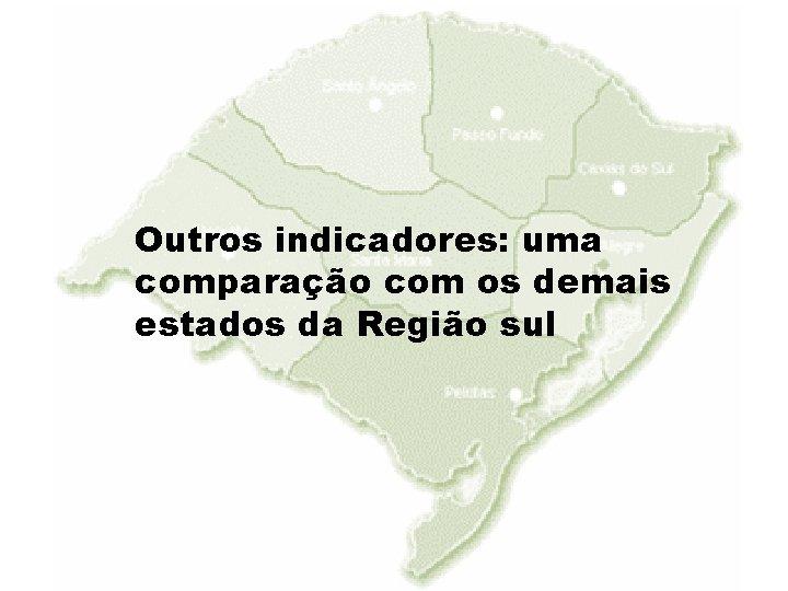 Outros indicadores: uma comparação com os demais estados da Região sul