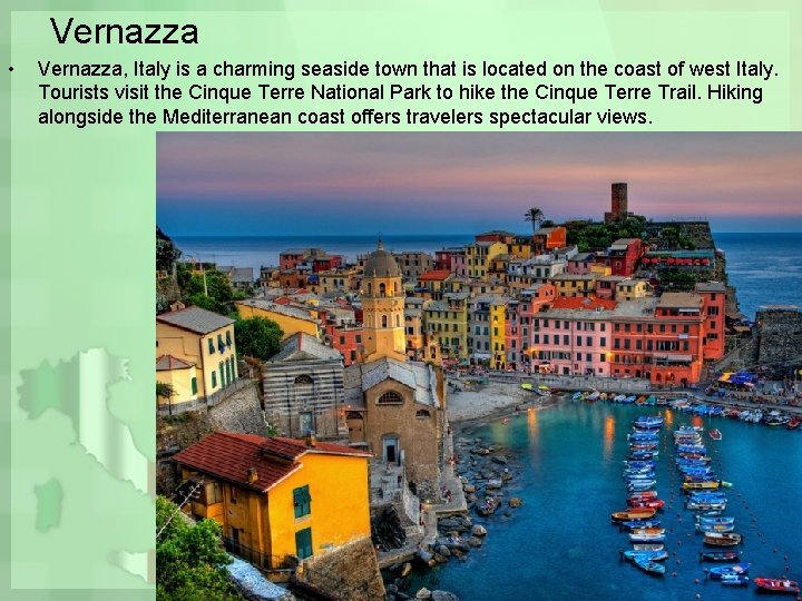 Vernazza • Vernazza, Italy is a charming seaside town that is located on the
