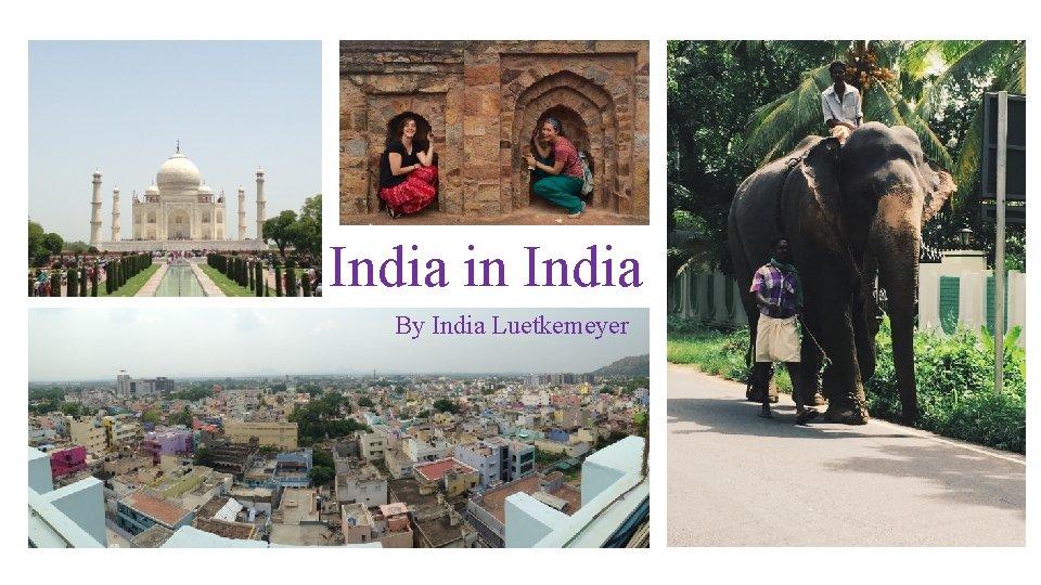 India in India By India Luetkemeyer