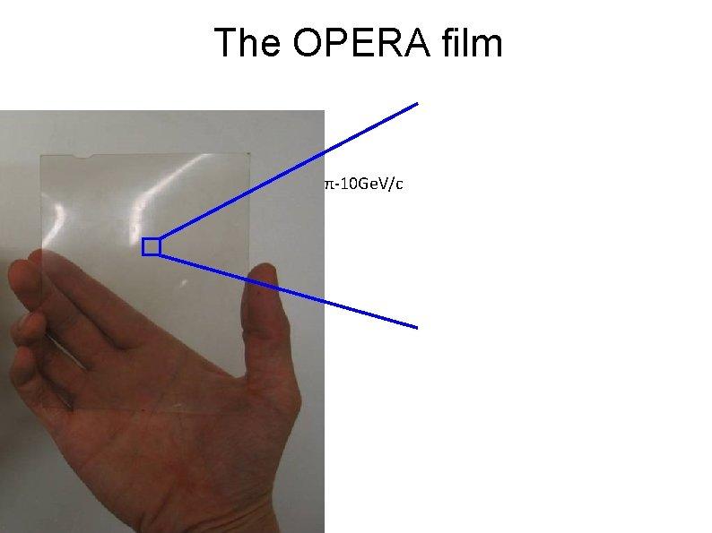 The OPERA Film The OPERA film π-10 Ge. V/c