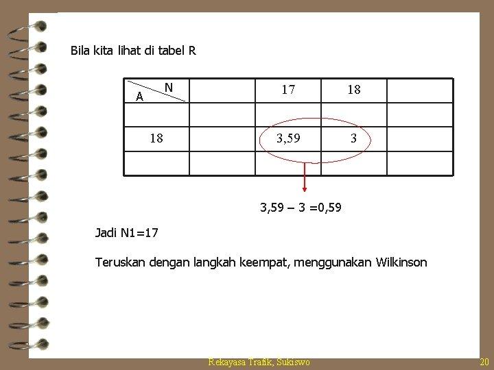 Bila kita lihat di tabel R N A 18 17 18 3, 59 3