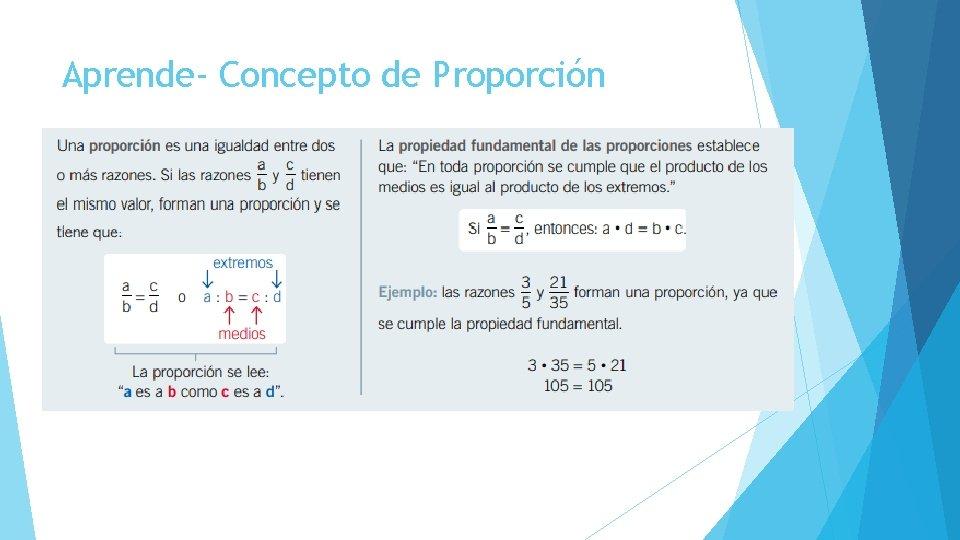 Aprende- Concepto de Proporción