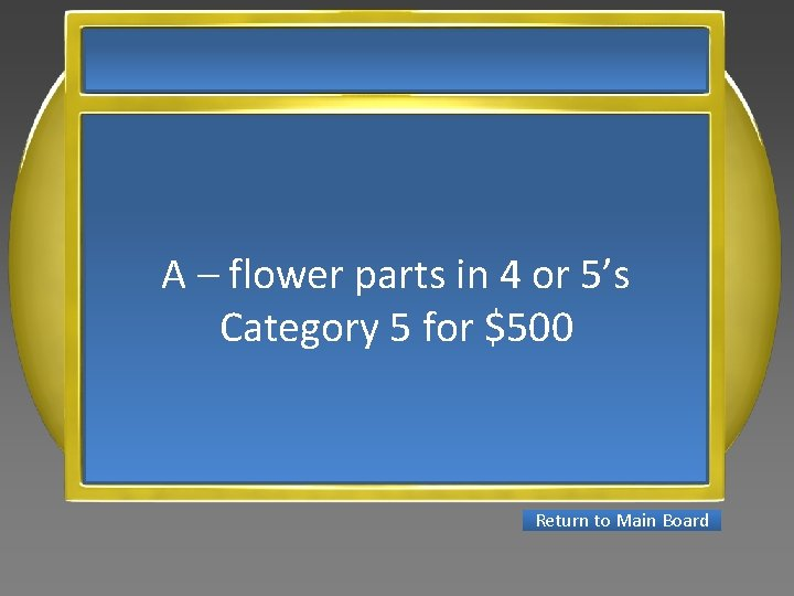 A – flower parts in 4 or 5's Category 5 for $500 Return to