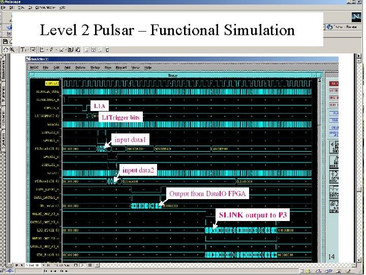 Level 2 Pulsar – Functional Simulation 14