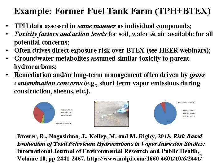 Example: Former Fuel Tank Farm (TPH+BTEX) • TPH data assessed in same manner as