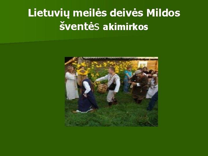 Lietuvių meilės deivės Mildos šventės akimirkos