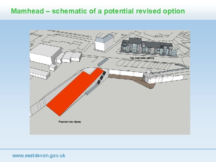 Mamhead – schematic of a potential revised option www. eastdevon. gov. uk