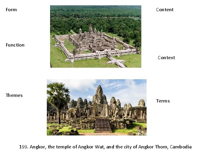 Form Content Function Context Themes Terms 199. Angkor, the temple of Angkor Wat, and