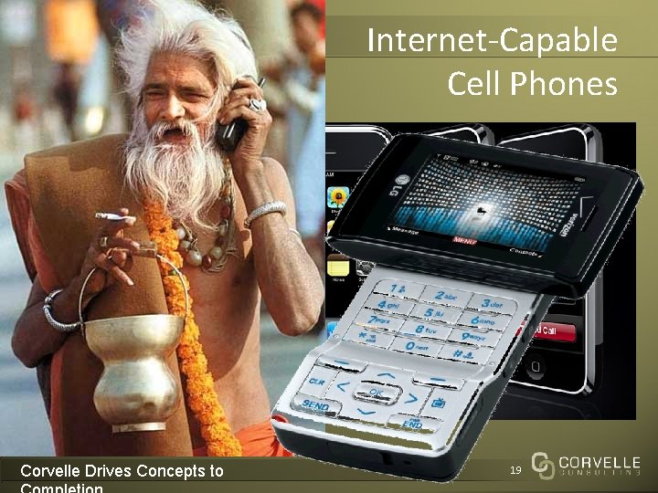 Internet-Capable Cell Phones Corvelle Drives Concepts to 19