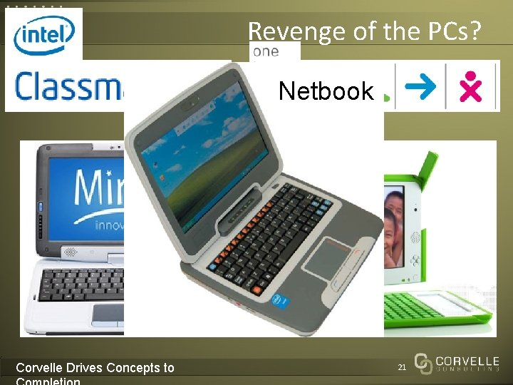 Revenge of the PCs? Netbook Corvelle Drives Concepts to 21