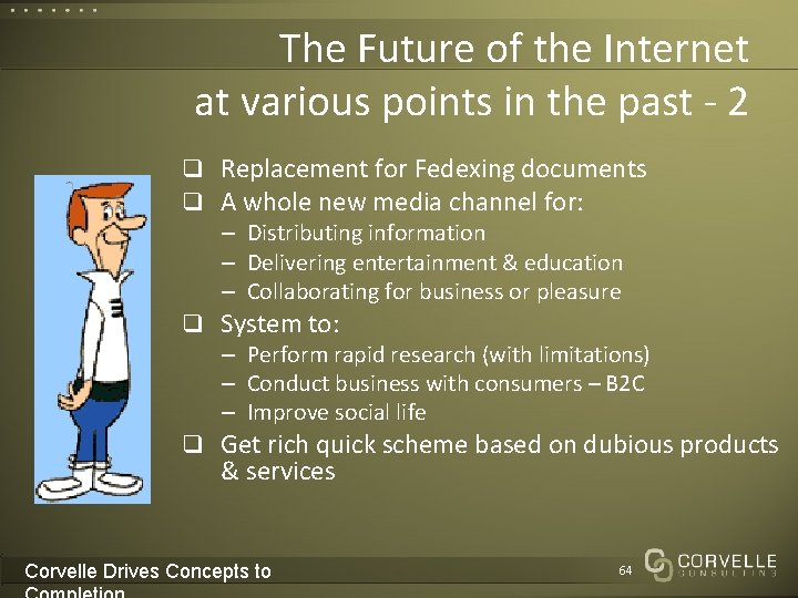 The Future of the Internet at various points in the past - 2 q