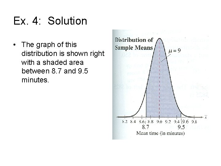 Ex. 4: Solution • The graph of this distribution is shown right with a