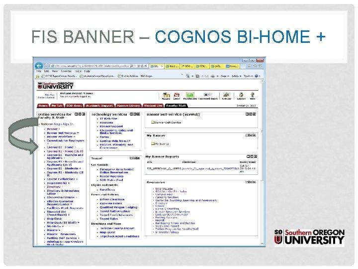 FIS BANNER – COGNOS BI-HOME +