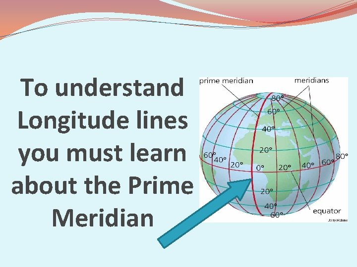 To understand Longitude lines you must learn about the Prime Meridian