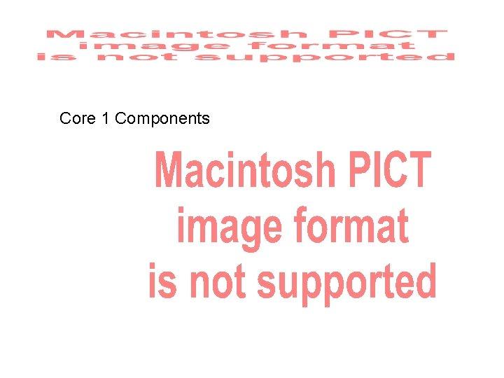 Core 1 Components