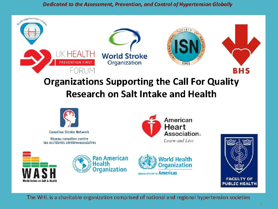 Dedicated to the Assessment, Prevention, and Control of Hypertension Globally Organizations Supporting the Call