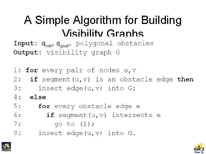 A Simple Algorithm for Building Visibility Graphs Slide 19