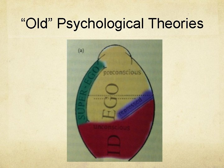 """""""Old"""" Psychological Theories"""