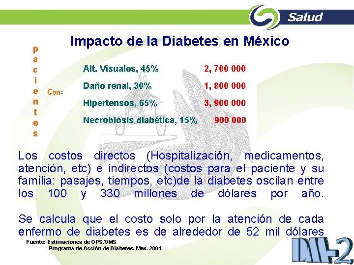 p a c i e n t e s Impacto de la Diabetes en