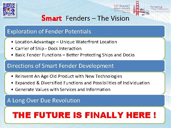 Smart Fenders – The Vision Exploration of Fender Potentials • Location Advantage – Unique