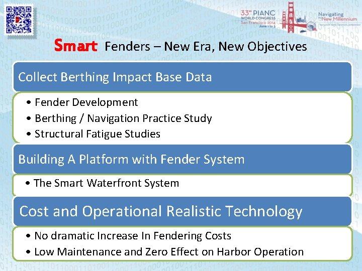 Smart Fenders – New Era, New Objectives Collect Berthing Impact Base Data • Fender