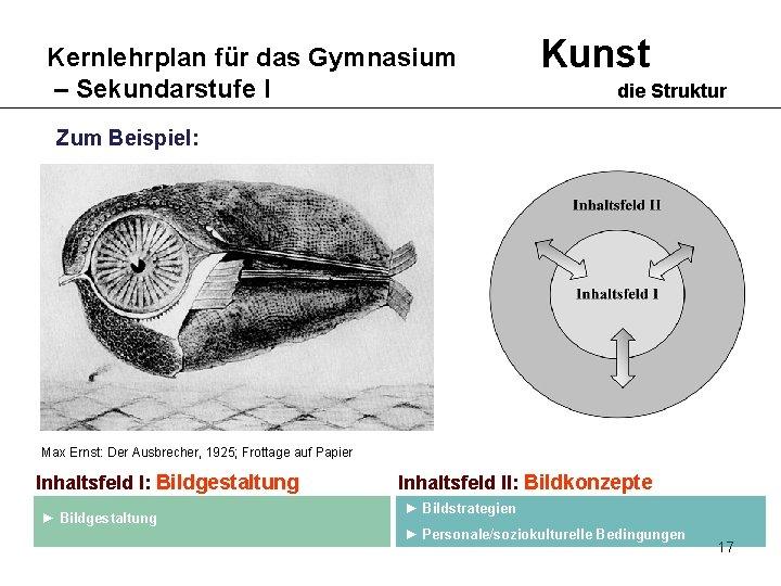 Kernlehrplan für das Gymnasium – Sekundarstufe I Kunst die Struktur Zum Beispiel: Max Ernst: