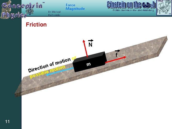 Force Magnitude Friction N n or o i t mo f o n o