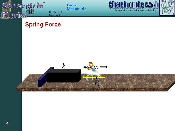 Force Magnitude Spring Force 4