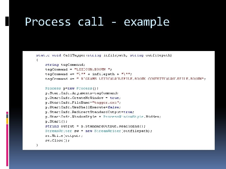 Process call - example