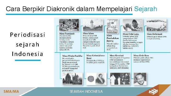 Cara Berpikir Diakronik dalam Mempelajari Sejarah Periodisasi sejarah Indonesia
