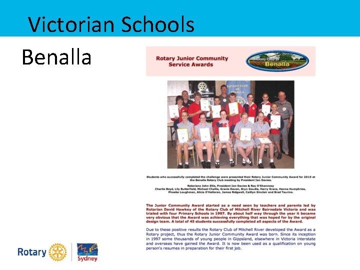 Victorian Schools Benalla