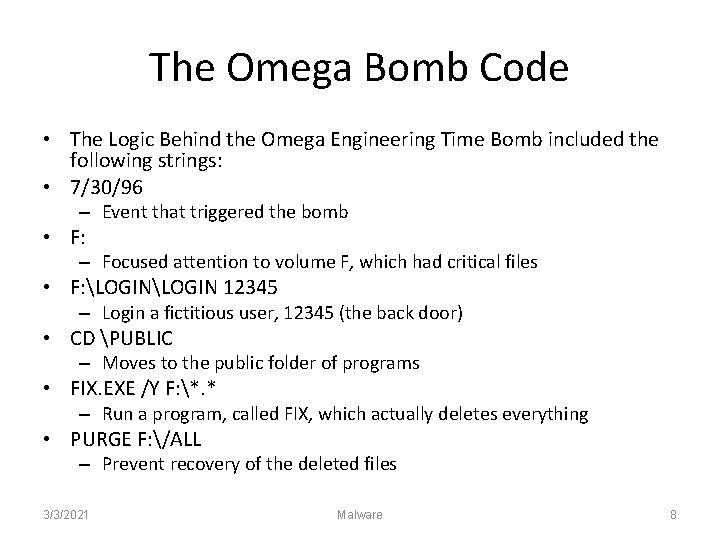 The Omega Bomb Code • The Logic Behind the Omega Engineering Time Bomb included