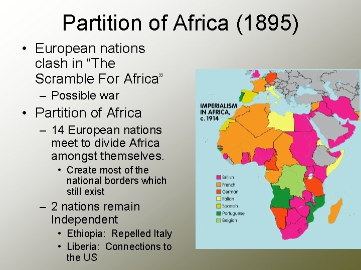 """Partition of Africa (1895) • European nations clash in """"The Scramble For Africa"""" –"""