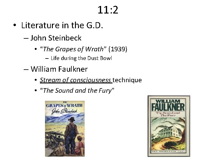 """11: 2 • Literature in the G. D. – John Steinbeck • """"The Grapes"""